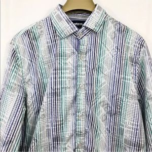 Desigual Shirt Striped Graphic Long Sleeve Buttons